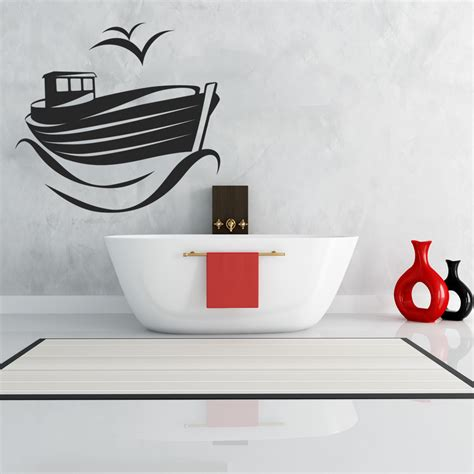 Decorative Boat Decals by Wallstickers Folies Boat Wall Stickers