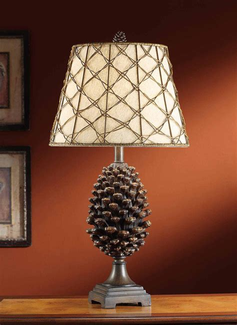 Rustic Table Lamps: Pine Bluff Table Lamp Black Forest Decor