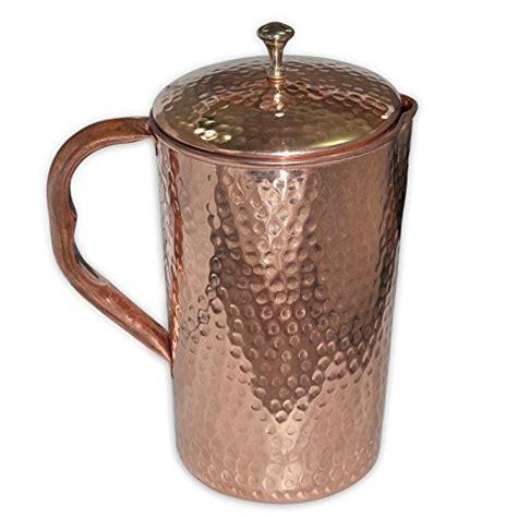 royaltylane pure copper jug  lid   tumbler glass set  ayurvedic healing