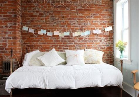 idea  decorate  brick wall   bed shelterness