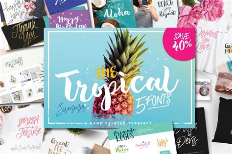 sale  tropical  fonts display fonts creative