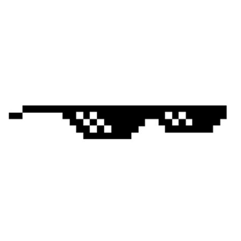 Thug Life Meme - deal with it glasses transparent png stickpng