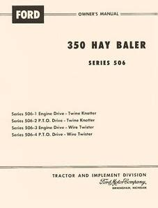 ford  twine wire hay baler series