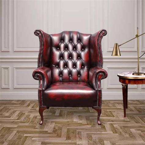 oxblood chesterfield 1780 high back wing chair
