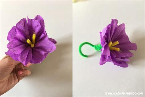 fleur en papier facile diy fleurs en papier cr 233 pon tuto photos facile allo maman dodo