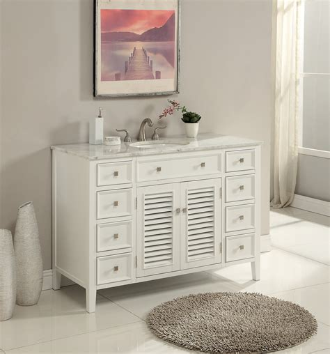 48 Inch Bathroom Vanity Coastal Cottage Beach Style Pure