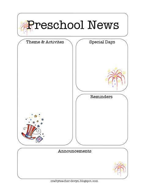 preschool newsletter template free preschool newsletter template e commercewordpress 910