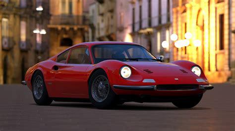 Wallpaper Ferrari Dino, Red, Hd, 4k, Swiss Classic World