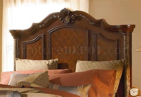 cherry finish mediterranean classic pc bedroom set