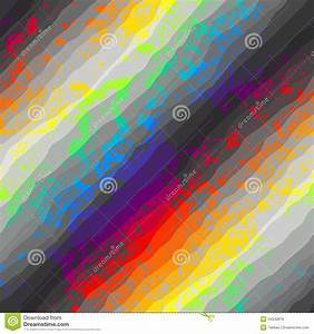 Abstract Grunge Pattern On Rainbow Background Stock Vector ...