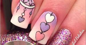 Playful Polishes: DREAM CATCHER NAIL ART/VALENTINES DAY NAILS
