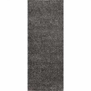 tapis de couloir shaggy gris 60x180 cm 40 mm achat With tapis couloir pas cher