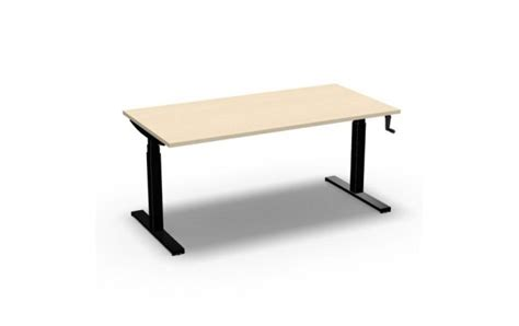 hauteur bureau ergonomie bureau easy 39 up réglable en hauteur manuel par manivelle 160 cm