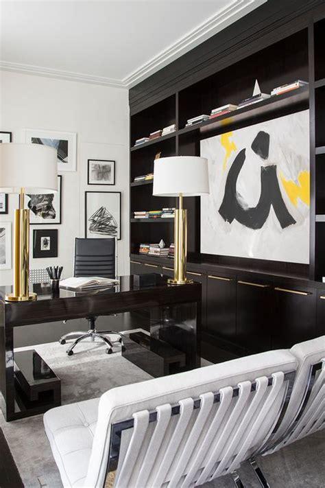 stylish built  bookshelves floor  ceiling