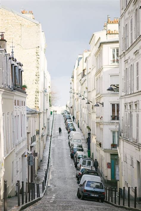 Beautiful Streets Of Montmartre Paris France By