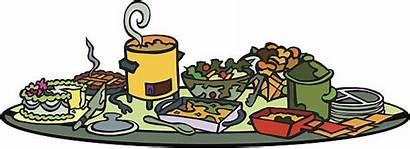 Potluck Clipart Table Dinner Luck Pot Christmas