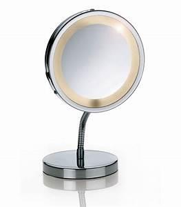 miroir grossissant x3 lumineux sur pied lola wadigacom With miroir grossissant sur pied