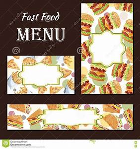 Cafe Menu With Hand Drawn Design. Fast Food Restaurant ...