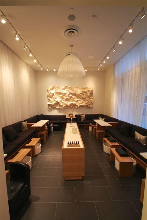 manicurepedicure area  wooden tessellation artwork