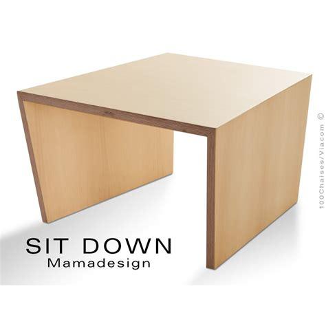 table d accompagement fauteuil sit structure bois finition vernis