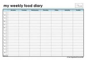Free Printable Food Diary Sheets