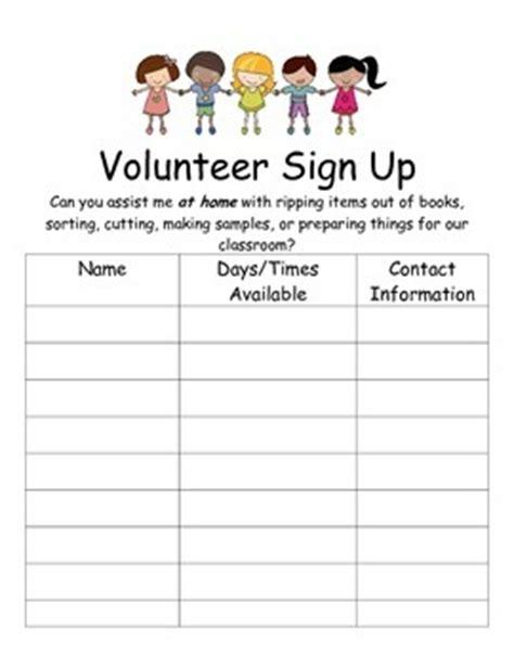 volunteer sign  sheets  laura mitchell teachers pay