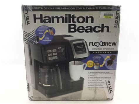 Specification of hamilton beach flexbrew coffee maker * dimensions 13.9h x 10.24w x 10.63d * brew 10oz. Hamilton Beach FlexBrew 2-Way Coffee Maker - Black for sale online | eBay