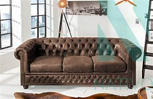 canape design chesterfield vintage 3 places nativo With canapé retro design