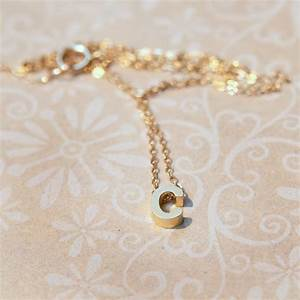 tiny gold rose gold or silver letter necklace adorn512 With small gold letter necklace