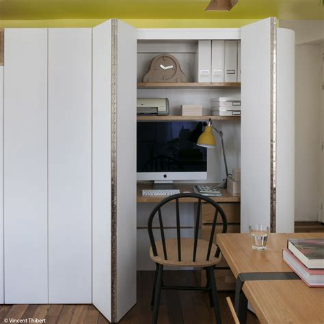 cache bureau petites surfaces grandes idées décoration