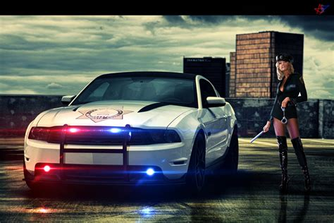 Ford Mustang Police By Acceptdesign On Deviantart