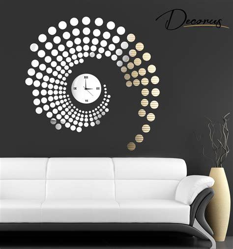 wanduhren wohnzimmer moderne designer quarz wanduhr auch als wandtattoo in edler und zeitloser optik ebay