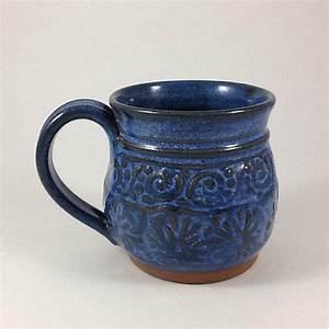 Pottery Coffee Mug Unique Handmade Mug by CharlotteLeePottery