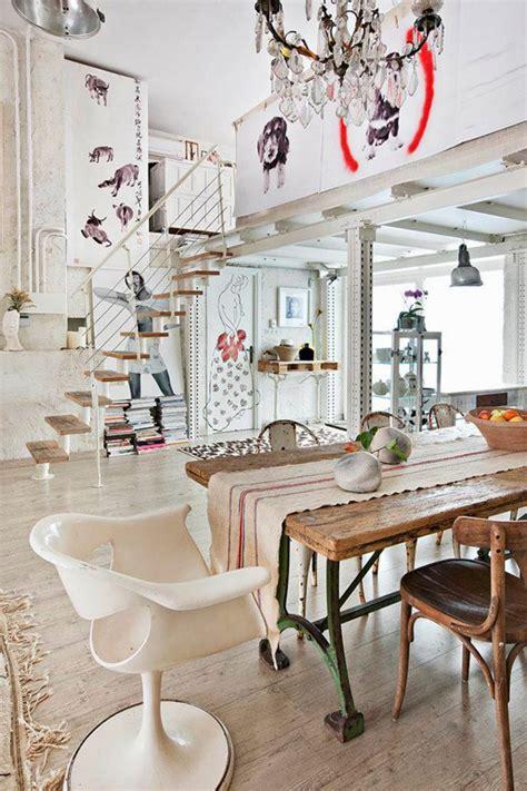 bohemian loft apartments  madrid home design  interior