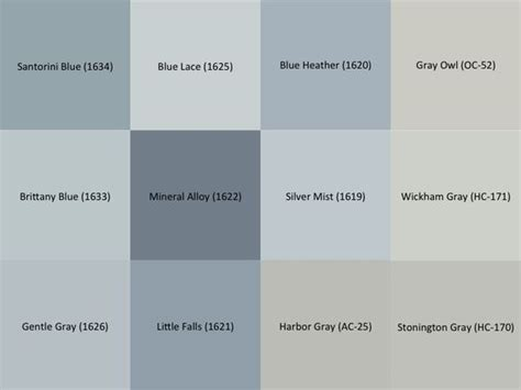 benjamin moore gray and blue paint sles for the