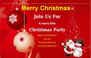 ms word merry invitation cards word excel templates