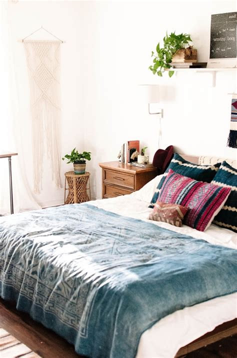 chambre en blanc chambre bohème atmosphère romantique en blanc