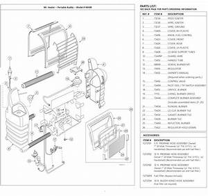 Mr Heater Mh9b Parts With Parts List