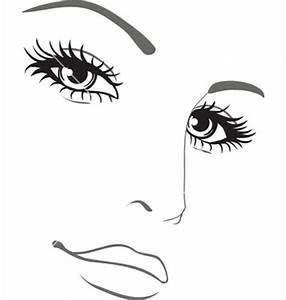 Black Girl Face Outline Clipart