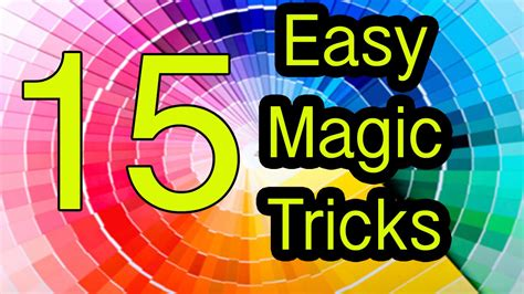 Easy Magic Tricks 15 Tricks Revealed  Explained Youtube