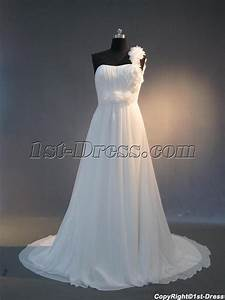 cheap one shoulder chiffon casual wedding dresses for With casual wedding dresses for spring