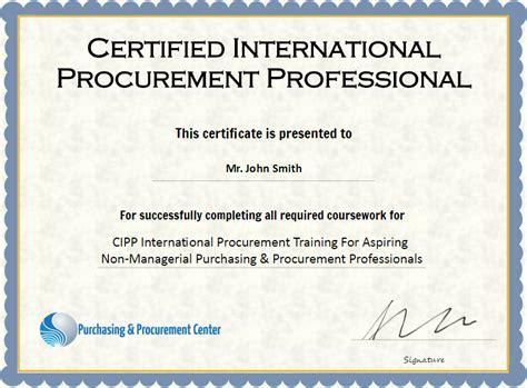 procurement certifications