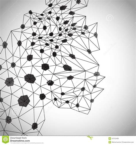 Abstract Geometric Shapes Black And White by Abstract Geometric Background Black And White Stock