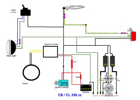 Motorcycle Scooter Wiring Diagram by Cl 350 Minimal Wiring Diagram Useful Information For