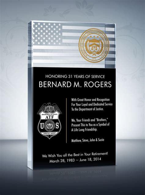 law enforcement retirement plaque retirement memories