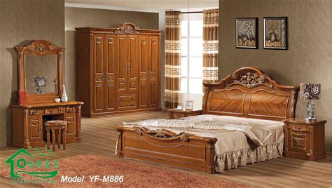 china bedroom furniture with wood bed for home furniture