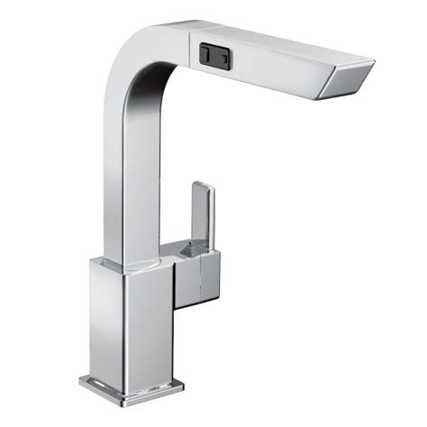 Moen 90 Degree Bar Faucet by 90 Degree Chrome One Handle High Arc Pullout Kitchen