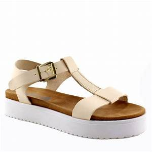 Leather women's sandals WALKME with anatomic design and 4 c m heel