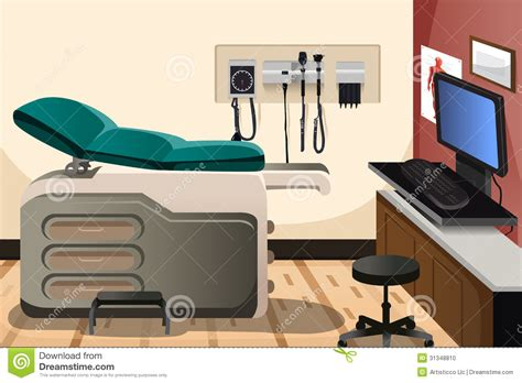 bureau de medecin bureau de docteur illustration de vecteur image du
