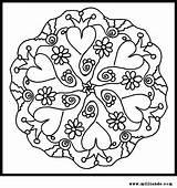 Coloring Mandala sketch template